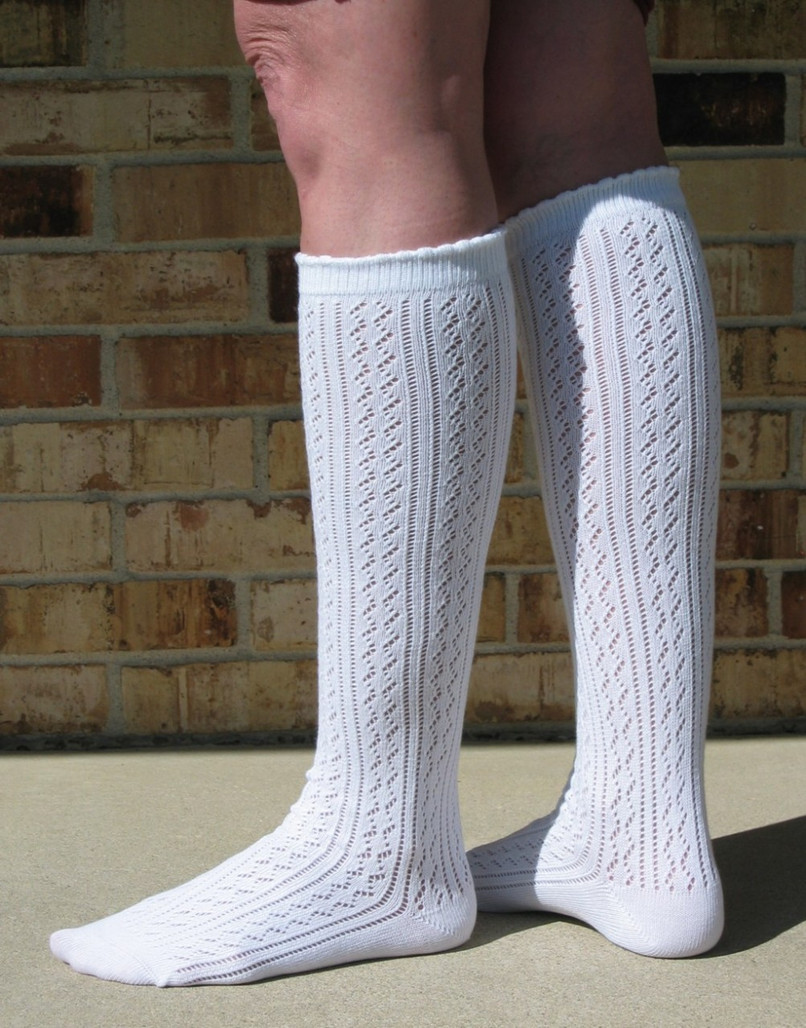 utterly stylish shoes for cheap online retailer Ladies white knee socks, whole desing, comfortable no ...