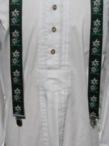 Green Edelweiss Suspenders