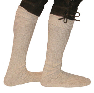 Bundhosen long knee socks beige