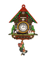 Germanic Kitchen Cow & Dog Cuckoo Clock Refrigerator Magnet
