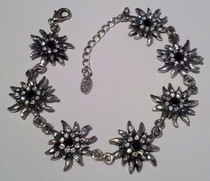 Edelweiss Bracelet with black crystal