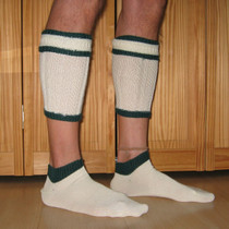Trachten Stutzen Loferl 2pc socks white