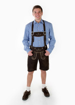 Lederhosen Oktoberfest Munchen Set Navy Long Sleeve