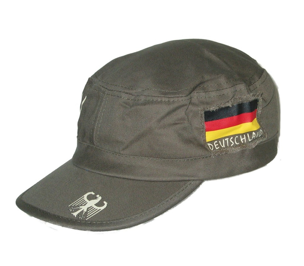 Deutschland Germany Militay Cap Olive with German Flag   Eagle by ... 401e8165c2e