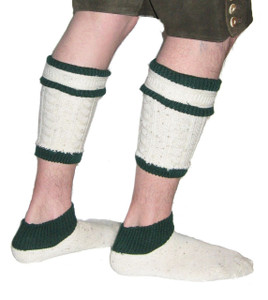Loferl Socks beige green Accessories for your Lederhosen