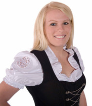 Dirndl Blouse White with Lace