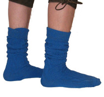 Trendy German Tracht knee socks in Navy Blue