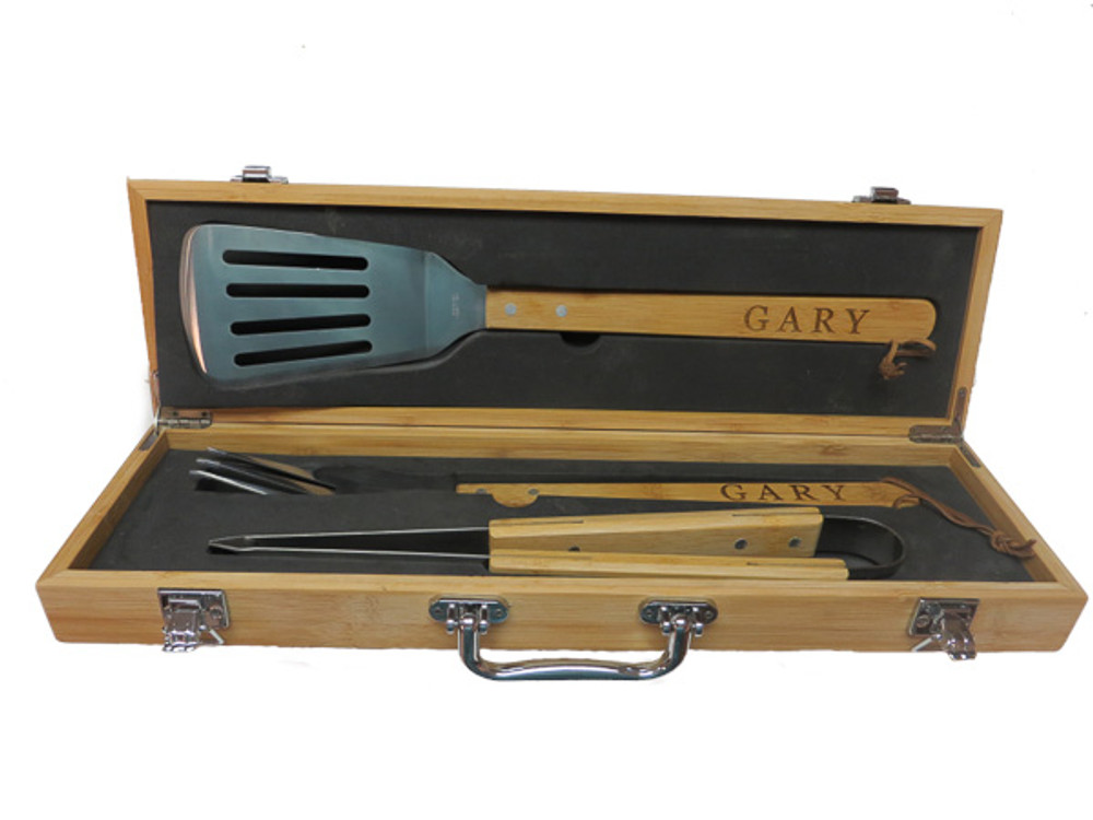 BBQ Tools Handles engraved
