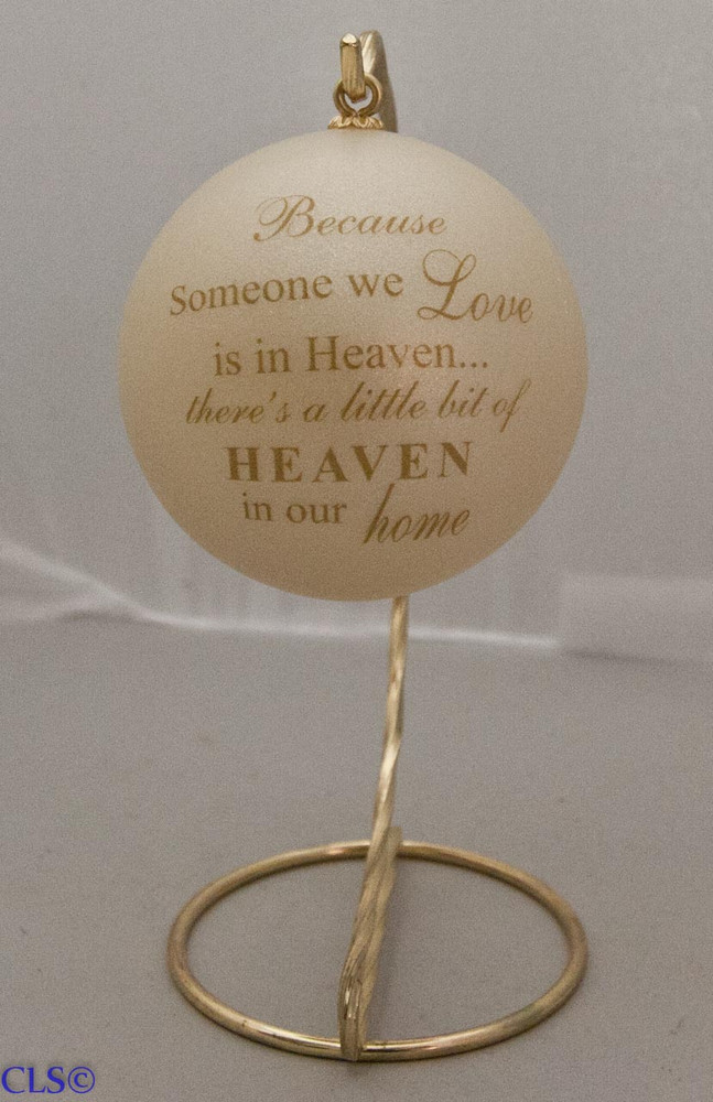 """Love & Heaven"" Ball Ornament"