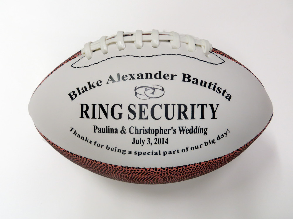 Ring Security Mid size football for ring bearer gift.