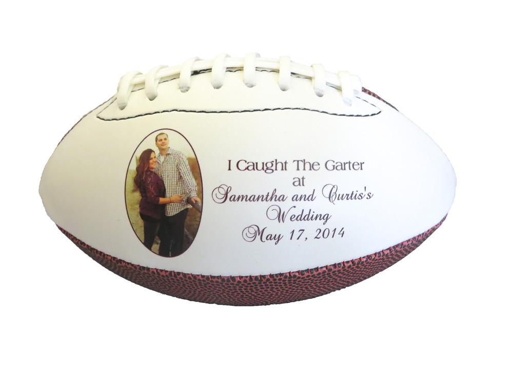 Custom football for Garter Toss
