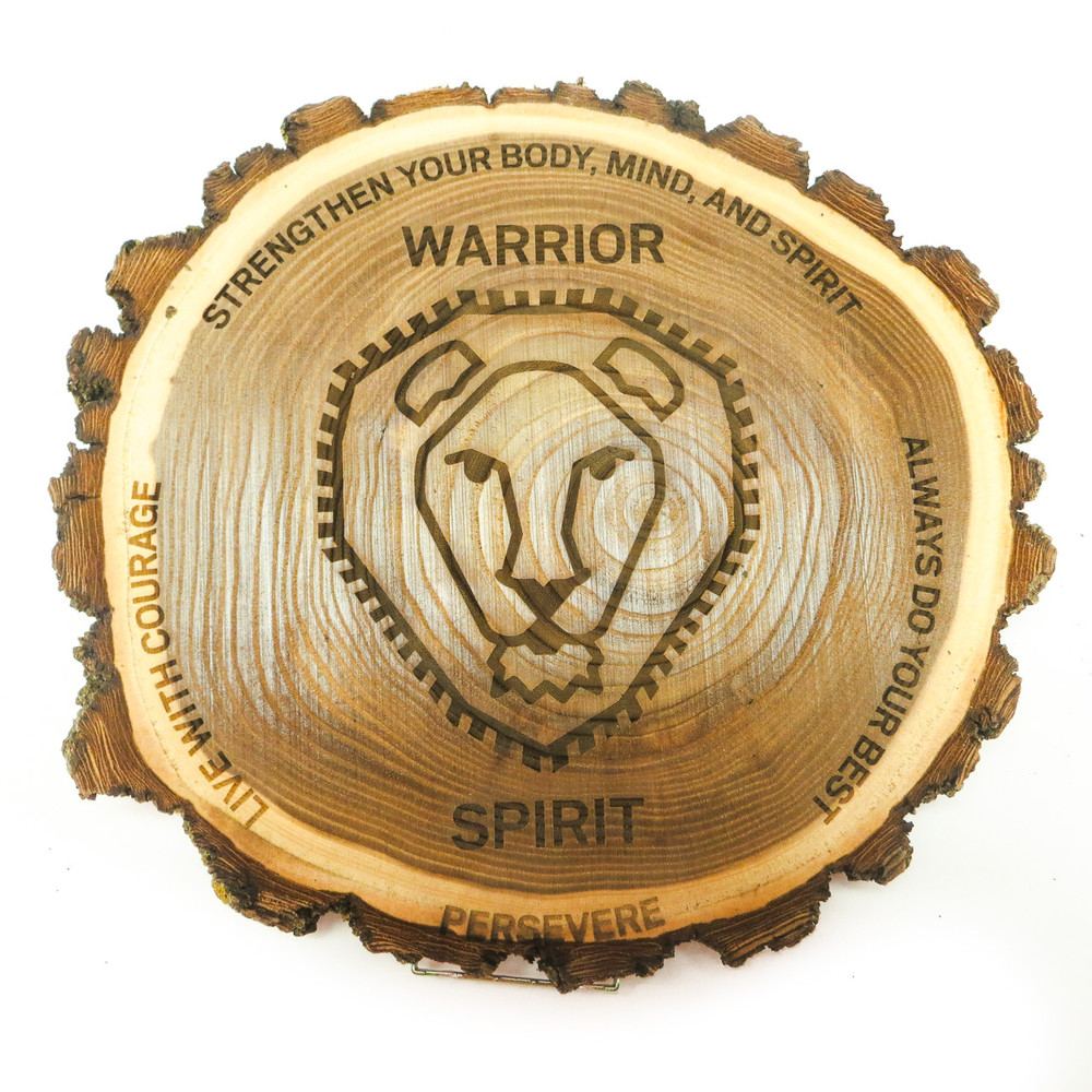 Custom warrior code gym commemorative plaque.