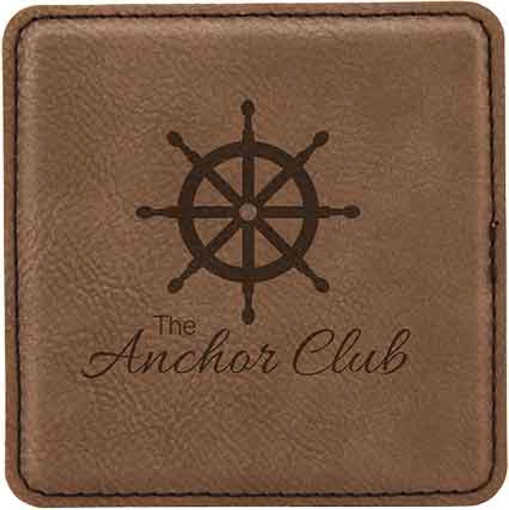 The rich dark brown leather will make a great gift for the yacht club