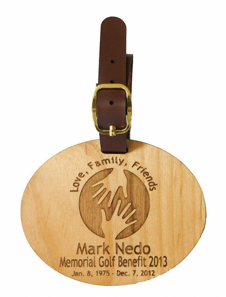 Personalized Wood Bag Tag