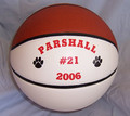 Personalized Split Panel basketball with your name, team, logo and player number. Great gift idea for any sports nut.