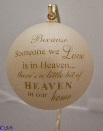 """Love & Heaven"" Ball Ornament"