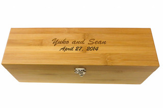 Custom Engraved bamboo wine box to commemorate special date!