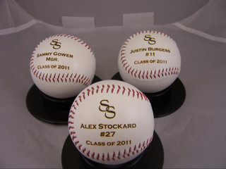 High school Baseball team gift baseball