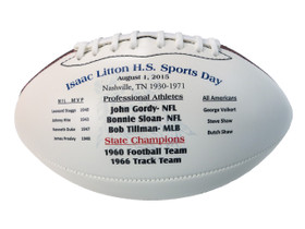 High School Hall of Fame Sports Day Commemorative football