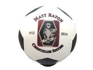 Custom Full size Soccer Ball with Team Logo Player Name and Number
