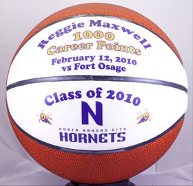 Personalized sports balls are a great gift idea for any sports nut. High school basketball is a time to remember. Customize a basketball with your name , graduation year and record career points!