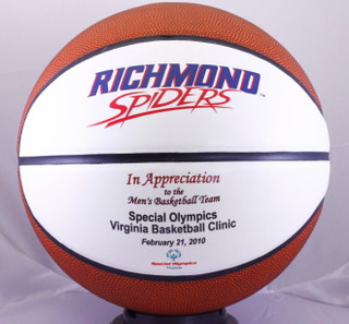 Personalize a Basketball to show your appreciation for your special event. Add sponsor names, team members and the date.