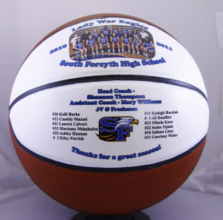 Personalized sports balls are a great gift idea for any sports nut. Need a gift for someone who has everything? A customized Basketball is the perfect gift! Great for coaches, team players, recognition or any special event!