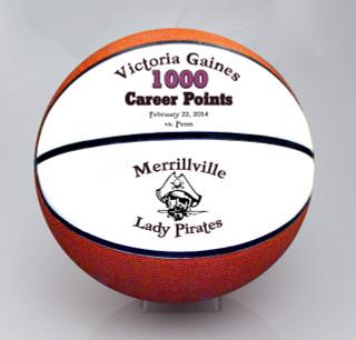Custom 1000 Career Point Basketball.