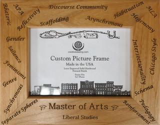 Master of Arts Custom picture frame.