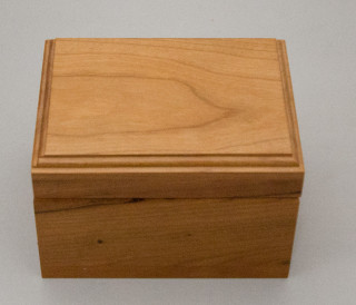 This box  is available in cherry. Your name, logo, or digital artwork can easily be added for a unique gift.