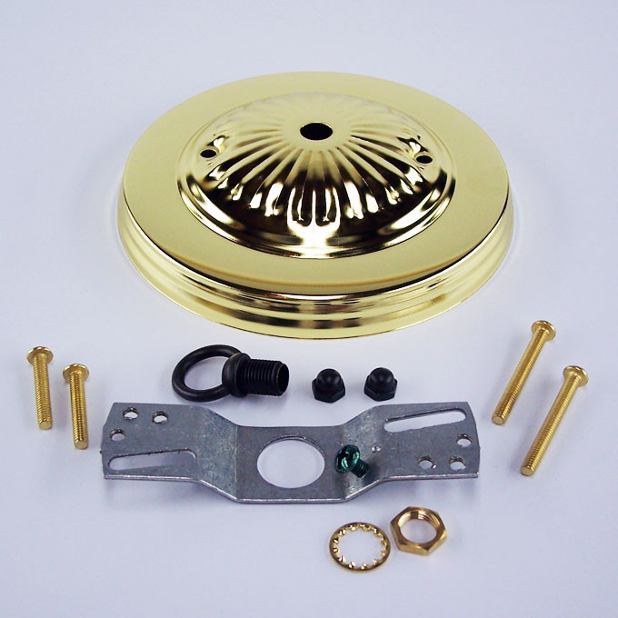 Polished Brass Ceiling Canopy Kit