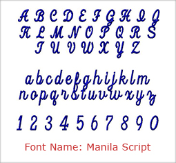 Monogramming Font Choices Thread Colors For Monogrammed Item