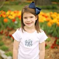 Navy Palmer large headband with a 4 X 6 hair bow attached.