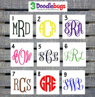 Monogram fonts for your decals.