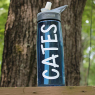 Camelback water bottle with a name decal.