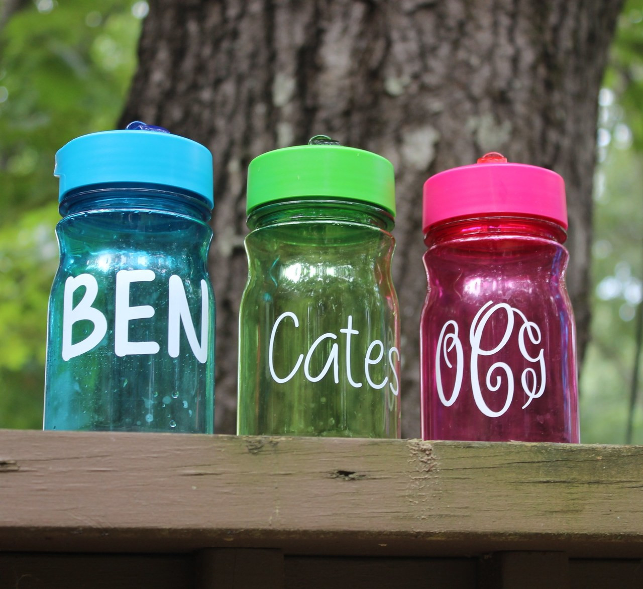 Toddler sippy cups with a decal