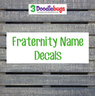 Fraternity name decals