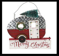 The Merry Christmas Camping Wall Hanger is a beautiful decor piece for Christmas.