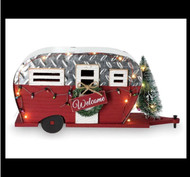 Christmas camper with LED Lights is beautiful!