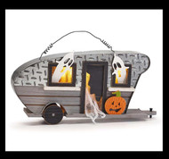 Halloween camper with led lights.