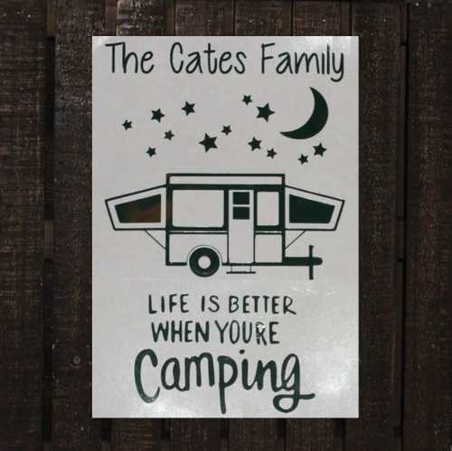 Life is better when camping decal.