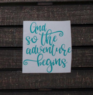 And so the adventure begins camping decal