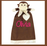 Milkie the Monkey is so soft and adorable with a monogram!