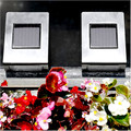 2-Pack Stainless Steel Landscape Wall Mounted Solar Light (st703)