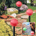 2-Pack RED Hanging/Landscape Solar Ball Lights