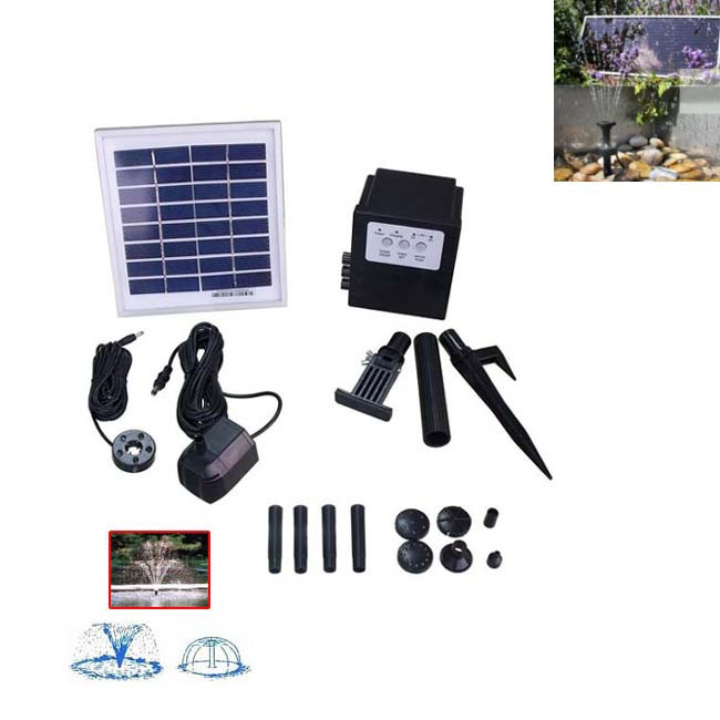 3w Solar Powered Water Fountain Pump Battery Led Timer Return