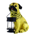 Pug Dog With Lantern Solar Light (SW5196)
