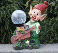 Outdoor Garden Decor Dwarf Crackle Ball Solar Light LED