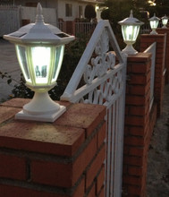 "4 1/6"" x 4 1/6"" base in White on Masonry posts"