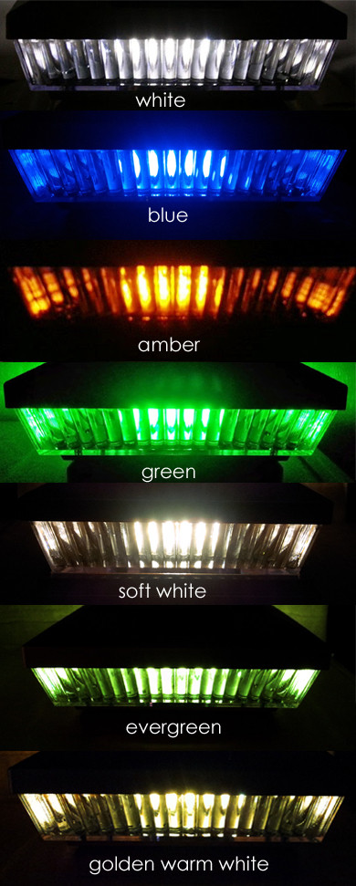 4-Pk Premium Solar 4 X 4 Fence Post Cap Lights With 5 White Or Amber color LEDs